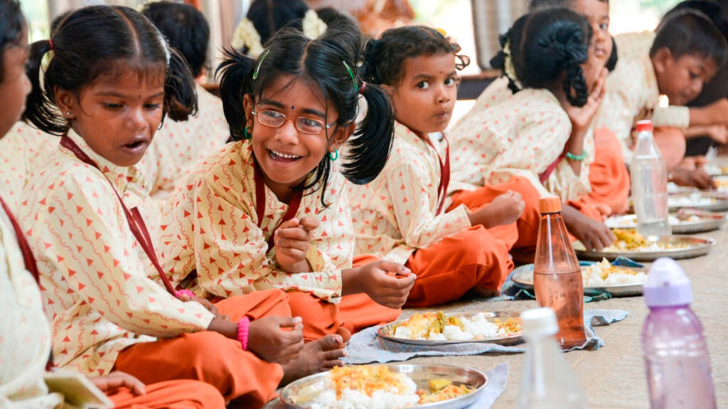 Feed nutritious meals to a poor rural child