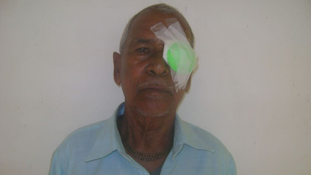 Gift joy of sight to a senior citizen