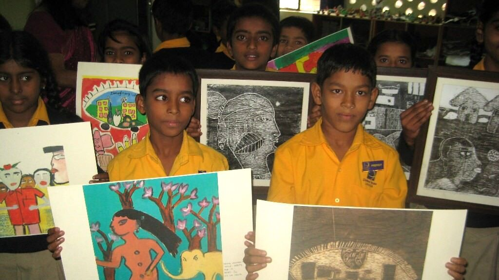 Gift school supplies to a poor kid