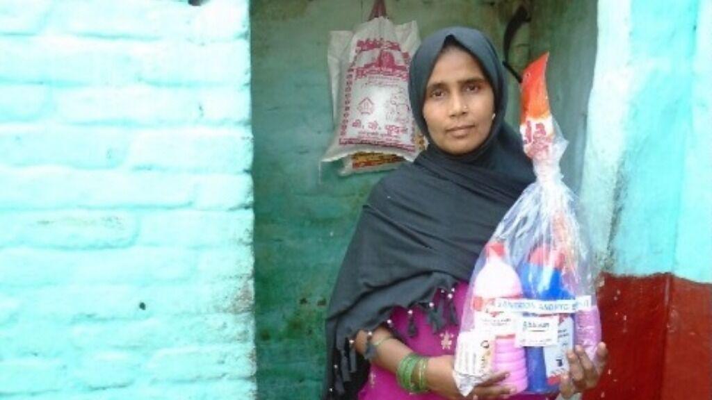 Sponsor hygiene kits for families in rural Uttar Pradesh