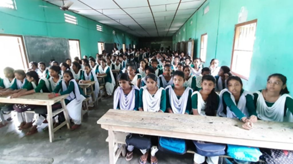Support monthly sanitary napkins for five girls