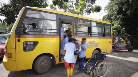 Help a differently abled child go to school