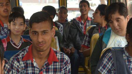 Help a mentally challenged child reach school