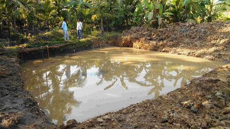 Help villagers get access to a harvesting pond
