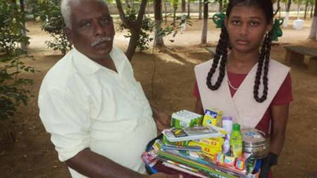 Sponsor a poor girl child's school supplies and toiletries