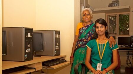 Sponsor computer training for underprivileged girls